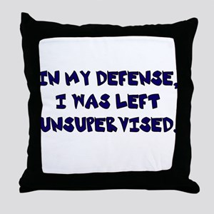 Unsupervised Throw Pillow