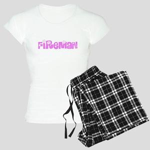 Fireman Pink Flower Design Pajamas