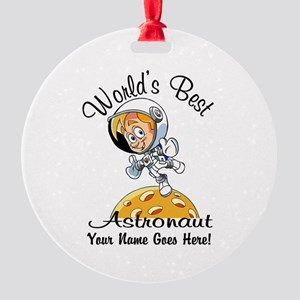 Worlds Best Astronaut Ornament