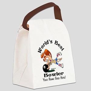 Worlds Best Bowler Canvas Lunch Bag