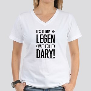 Legen Wait For It Dary Women's V-Neck T-Shirt