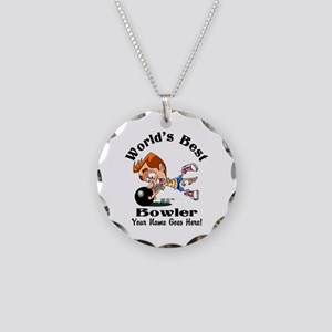 Worlds Best Bowler Necklace Circle Charm