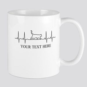 Custom Text Cat Lover Mugs