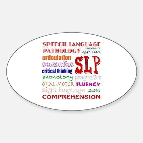 Cute Speech therapy Sticker (Oval)