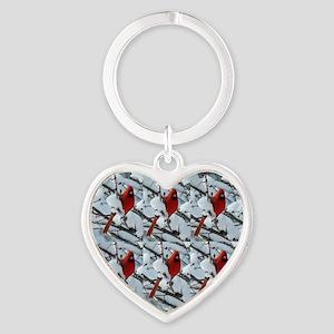 Snow cardinal Keychains
