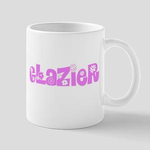 Glazier Pink Flower Design Mugs