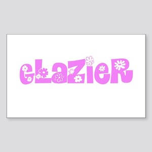 Glazier Pink Flower Design Sticker
