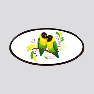 Black Masked Lovebirds Patch