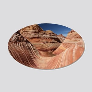 PETRIFIED SAND DUNES 20x12 Oval Wall Decal