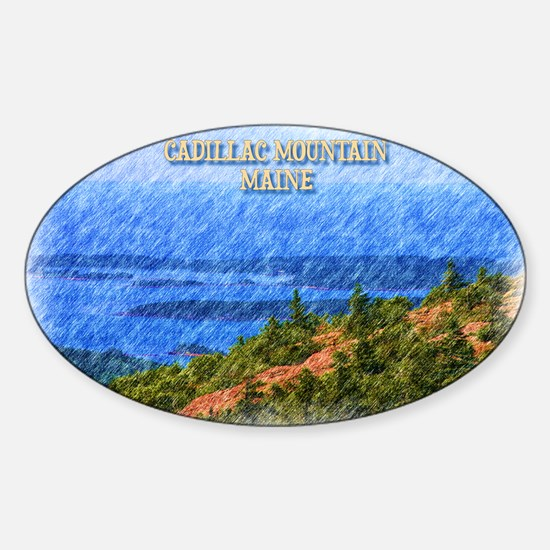 Cadillac Mountain, Maine Decal