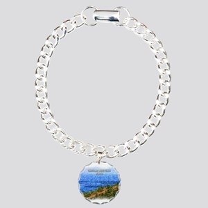 Cadillac Mountain, Maine Charm Bracelet, One Charm