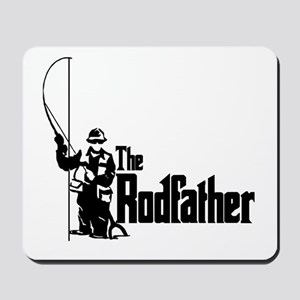 The Rodfather Fun Fishing Quote for him Mousepad