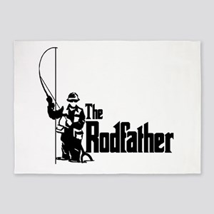 The Rodfather Fun Fishing Quote for him 5'x7'Area