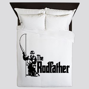 The Rodfather Fun Fishing Quote For Queen Duvet