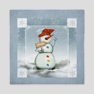North Pole Snowman Queen Duvet