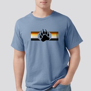 Gay Bear Pride Stripes Bear Paw T-Shirt