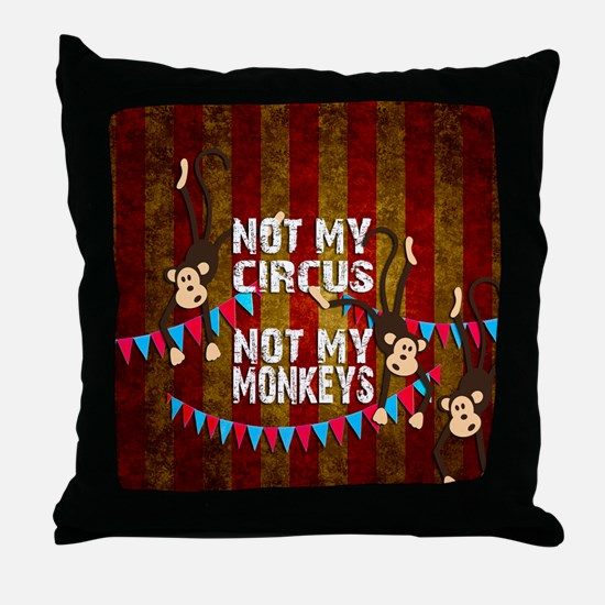 Cute Monkeys Throw Pillow