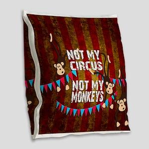 Monkeys NOT My Circus Burlap Throw Pillow