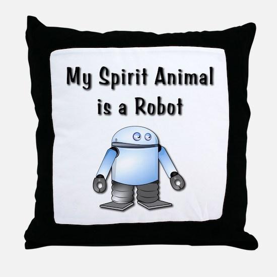 Spirit Robot Throw Pillow