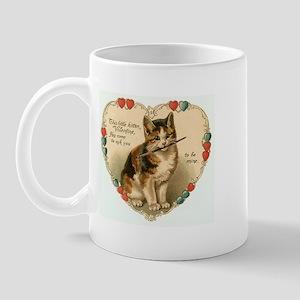 Victorian Kitten Valentine Mug