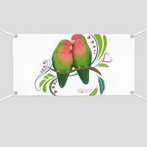 Peach Faced Lovebirds Banner