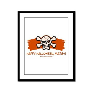 Halloween Matey Framed Panel Print