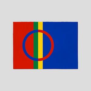 Scandinavia Sami Flag 5'x7'Area Rug