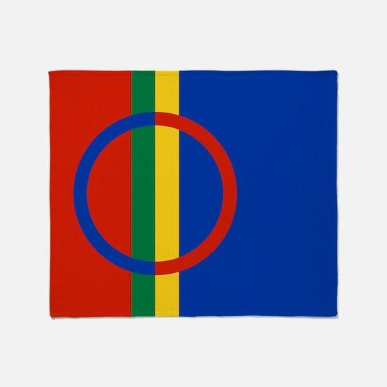 Scandinavia Sami Flag Throw Blanket