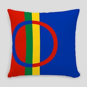 Scandinavia Sami Flag Everyday Pillow