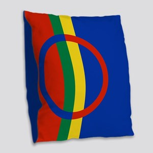 Scandinavia Sami Flag Burlap Throw Pillow