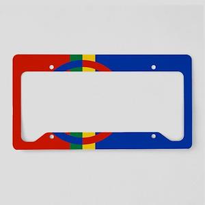 Scandinavia Sami Flag License Plate Holder