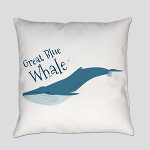Great Blue Whale Everyday Pillow