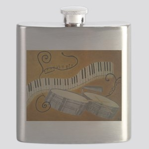 salsa painting with timbales and piano Flask