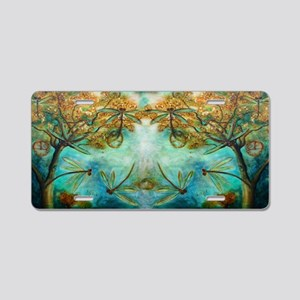Dragonfly Flirtation Aluminum License Plate