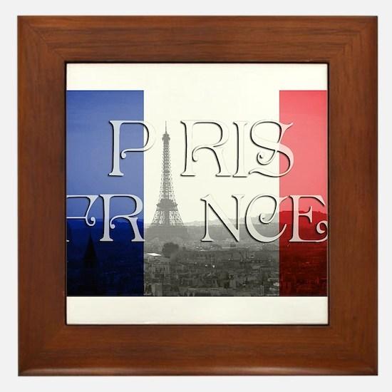 PARIS FRANCE EIFFEL TOWER Framed Tile