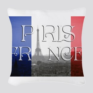 PARIS FRANCE EIFFEL TOWER Woven Throw Pillow