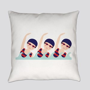 Synchronized Swimming Girls Everyday Pillow
