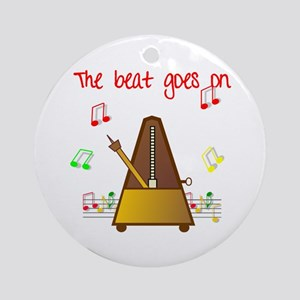 The Beat Goes On Ornament (Round)