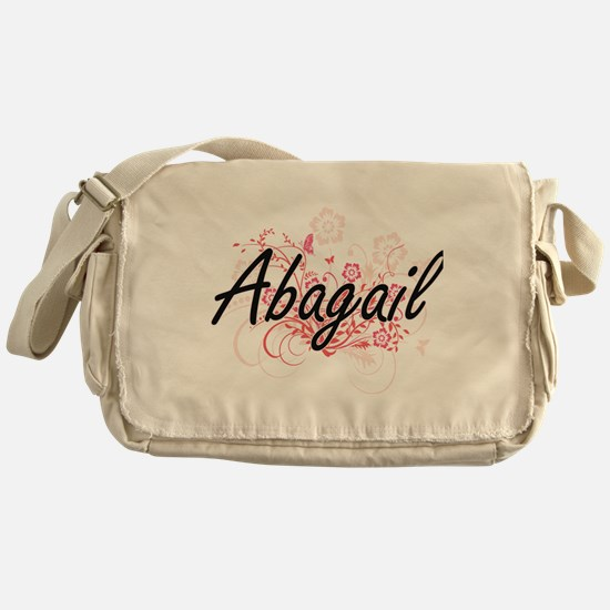 Abagail Artistic Name Design with Fl Messenger Bag