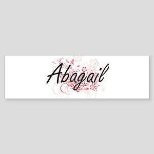 Abagail Artistic Name Design with F Bumper Sticker