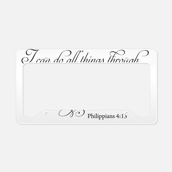 Cute Bible quotes License Plate Holder