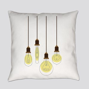 Vintage Light Bulbs Everyday Pillow