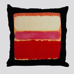 ROTHKO WHITE RED PINK Throw Pillow