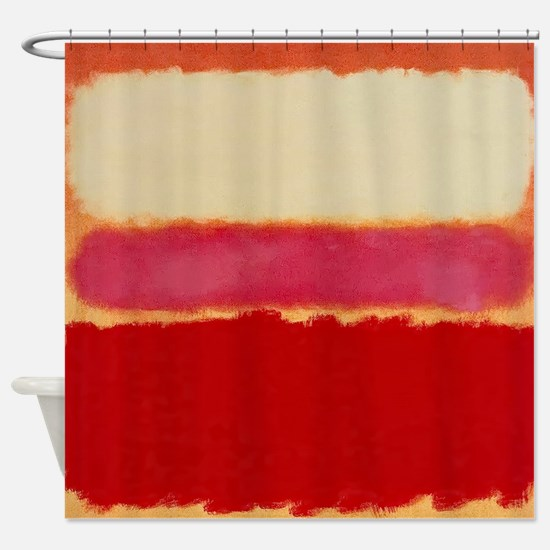 ROTHKO WHITE RED PINK Shower Curtain
