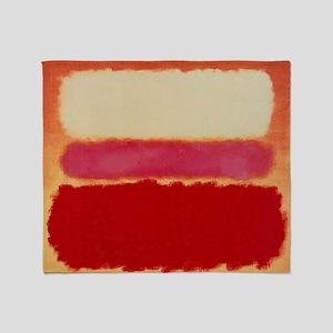 ROTHKO WHITE RED PINK Throw Blanket