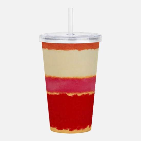 ROTHKO WHITE RED PINK Acrylic Double-wall Tumbler