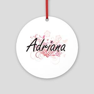 Adriana Artistic Name Design with F Round Ornament