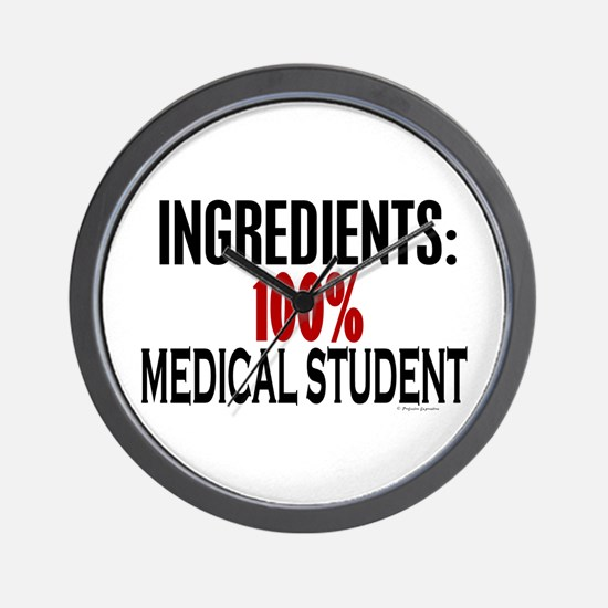 Ingredients: Medical Student Wall Clock
