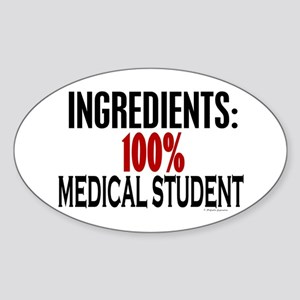 Ingredients: Medical Student Oval Sticker