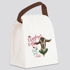 Christmas Wishes Baby Goat Kisses - Togg Canvas Lu